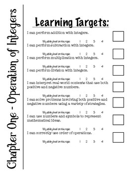 Integers - Learning Targets for Interactive Notebooks