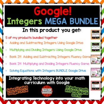 Integers MEGA BUNDLE on Google Drive
