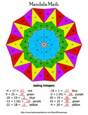 Integers Mandala Math Color by Number Bundle