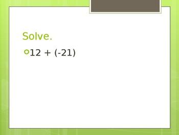 Integers Math Game