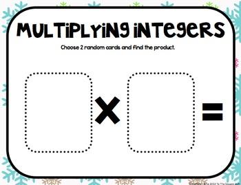 Integers Math Mats