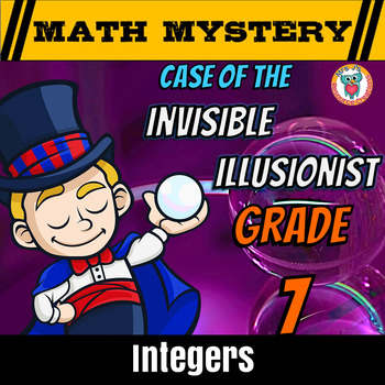 Integers Math Mystery Activity - Add, Subtract, Multiply & Divide Integers