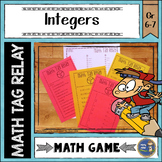 Integers Math Tag Relay
