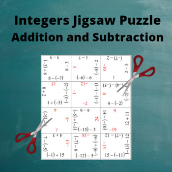 Add and Subtract Integers: Mixed Addition and Subtraction Puzzle