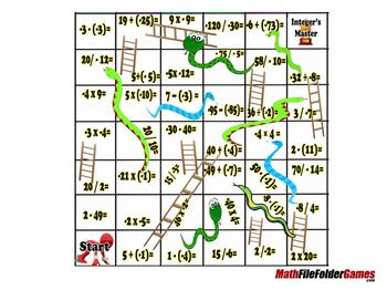 Integers Mokshapat (Snakes & Ladders Integer Game)
