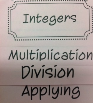 Integers: Multiply and Divide Flipbook