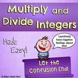Multiplying and Dividing Integers Made Easy (Mini Bundle)