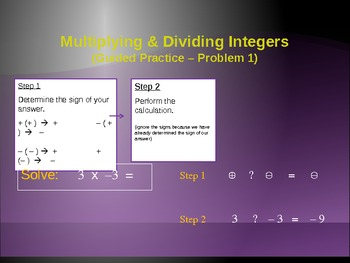 Integers - Multiplying and Dividing (PowerPoint)