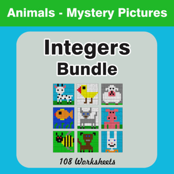 Integers Mystery Pictures Bundle