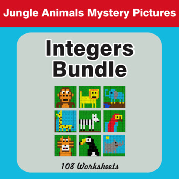 Integers - Math Mystery Pictures - Bundle