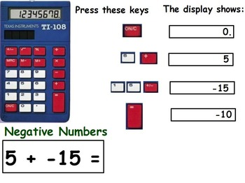Basic Math Skills; Negative Integers & Answers (worksheet included) (POWERPOINT)