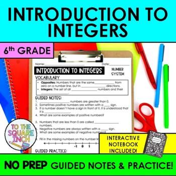 Integers Notes