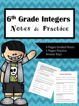 Integers Notes & Practice