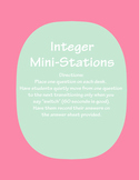 Integers, Number Line & Coordinate Plane Mini-Stations