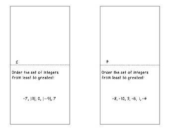 Integers & Number Sense