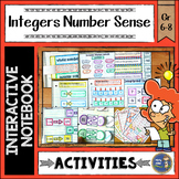 Integers Number Sense Interactive Notebook