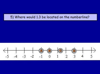 Basic Math Skills - Number line;  Numbers (worksheet included) (POWERPOINT)