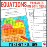 Solving Equations with Variables on Both Sides Activity Mystery Puzzle