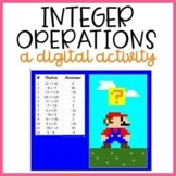 Integers Operations Digital Color By Number (Distance Learning)