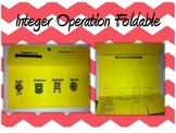 Integers Operations Foldable