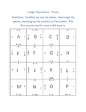 Integers Operations Puzzle - Add, Subtract, Multiply, Divide