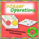 Integer Operations Spinners Practice, Add, subtract, multiply & divide integers.