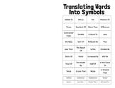 Integers & Operations - Translating Terms