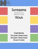 Integers Opposites & Absolute Value War