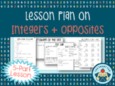Integers + Opposites Lesson Plan - Real-Life Application