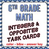 Integers & Opposites Task Cards - 6th Grade Go Math Module 1
