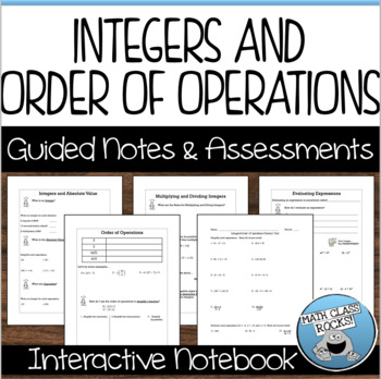 Integers/Order of Operations Unit - Guided Notes and Assessments