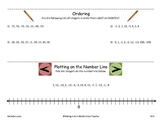 Integers:  Ordering & Plotting on Number Line with Answer Key