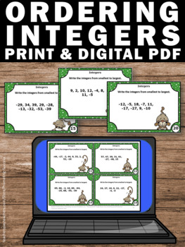 Ordering Integers from Least to Greatest, 6th Grade Math Review Games