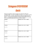 Integers: POPCORN (Adding and Subtracting Integers)