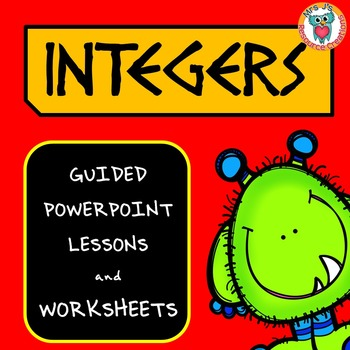 Integers PowerPoint Lessons and Worksheets Pack