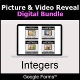 Integers - Picture & Video Reveal Game  | Digital Bundle |