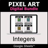 Integers - Pixel Art Digital Bundle   Google Sheets   Dist