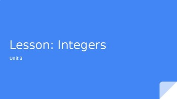 Integers Powerpoint