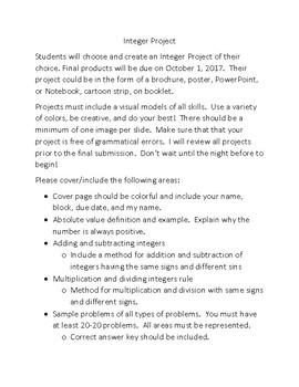 Integers Project