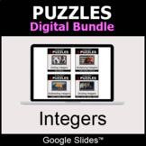 Integers - Puzzles Digital Bundle | Google Slides | Distan