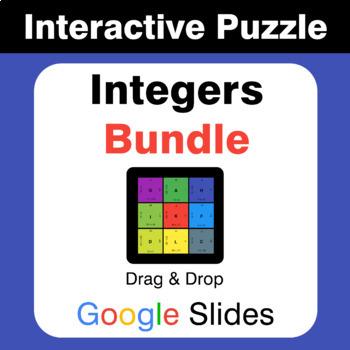 Integers Puzzles with GOOGLE Slides Bundle