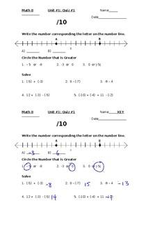Integers Quiz #1 - Basic introduction