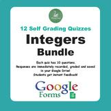 Integers Quiz Bundle (Google Forms)
