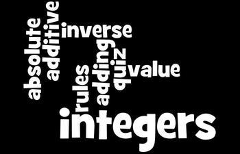 Integers Quiz - Integers, Absolute Value, Adding Integers