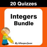 Integers Quizzes [Bundle]