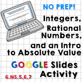Integers, Rational Numbers, Intro to Absolute Value Google Slides Activity