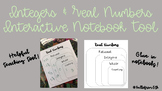 Integers & Real Numbers Interactive Notebook Tool