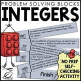 Integers Review and Practice Activity