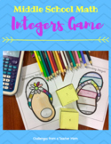 Integers: Roll and Color GAME!