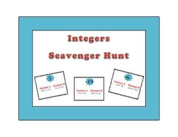 Integers Scavenger Hunt 7NS1-3
